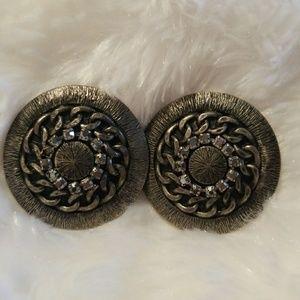 Silver gray earrings